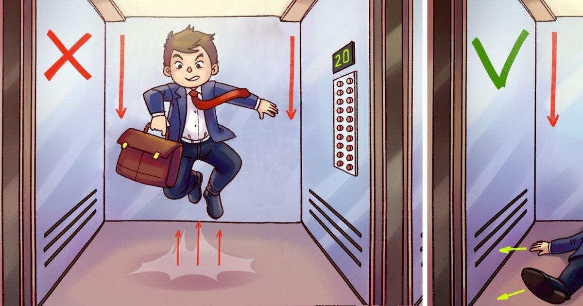 Как выбраться живым изпадающего лифта