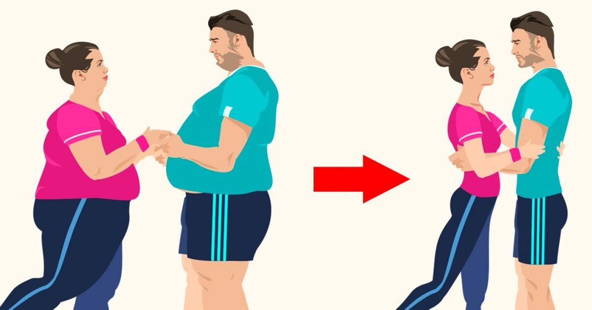 9упражнений для пар, которые решили худеть вместе