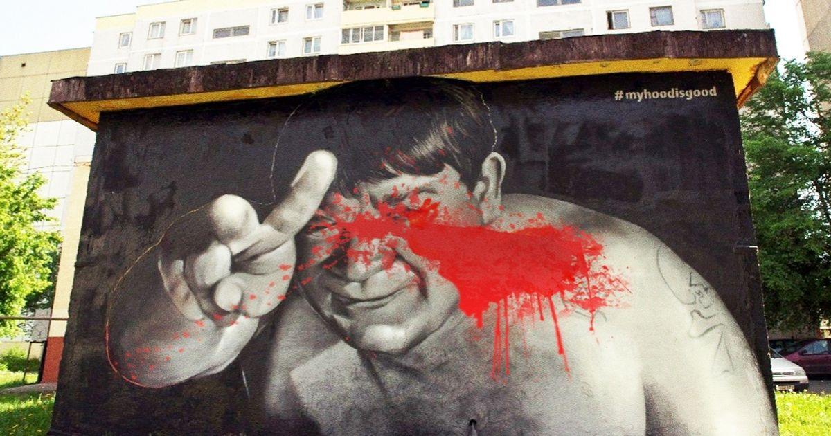 Хулиганы замазали портрет Леонова, нохудожники нашли достойный ответ