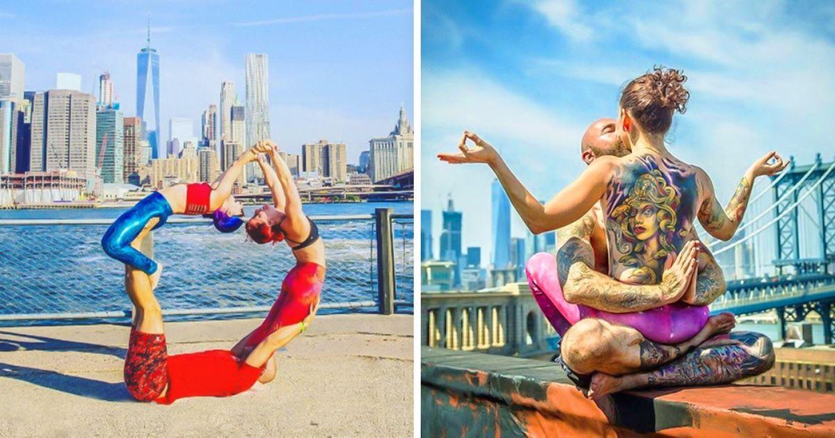 Фотопроект отом, что йога способна вдохновлять ившуме большого города