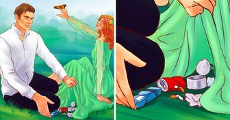Честный комикс об отношениях Человека и Природы, за которые людям должно быть стыдно