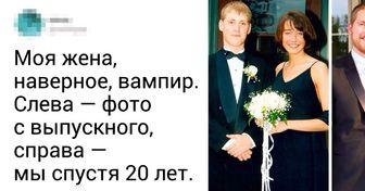 22 счастливые пары поделились фотографиями в начале отношений и спустя годы