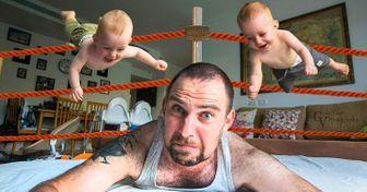 Отец превратил свою жизнь сблизнецами вувлекательный фотопроект