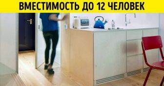 Английские дизайнеры разместили полноценную квартиру наплощади всего 19кв.м