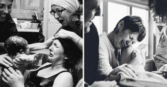10интимных фотографий рождения новой жизни, накоторых мамы поддерживают своих дочерей