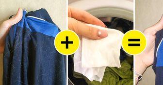 Зачем класть влажную салфетку в стиральную машинку