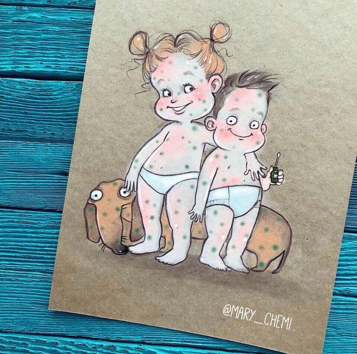 15 иллюстраций от художницы, которая в 29 лет знает все о жизни с 2 детьми