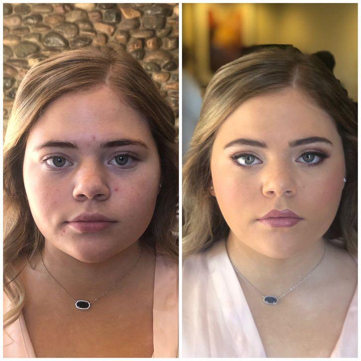 20+эффектных фото невест доипосле нанесения свадебного макияжа