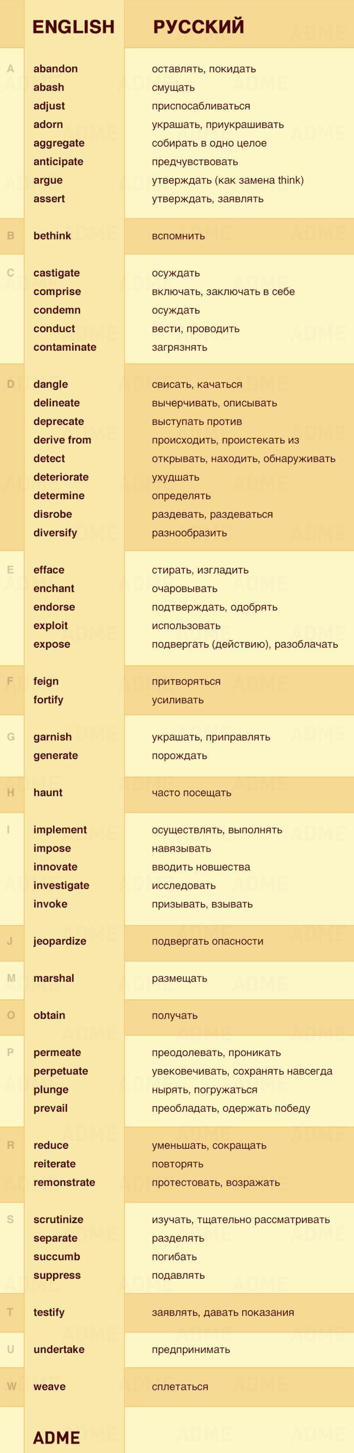 55не очень известных, нополезных глаголов наанглийском