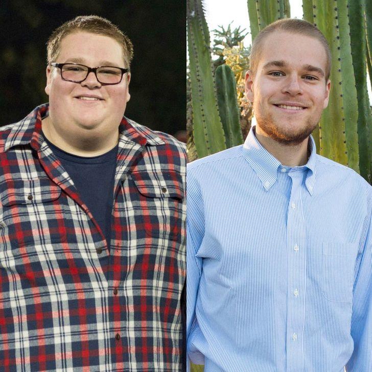 21пример того, как сильно меняется лицо после потери веса