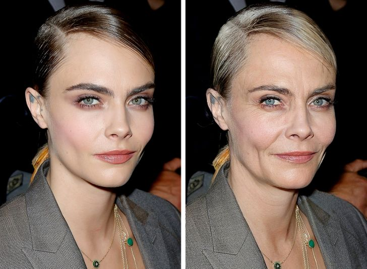 We artificially aged 19 celebrities to see how cool they will look in decades.