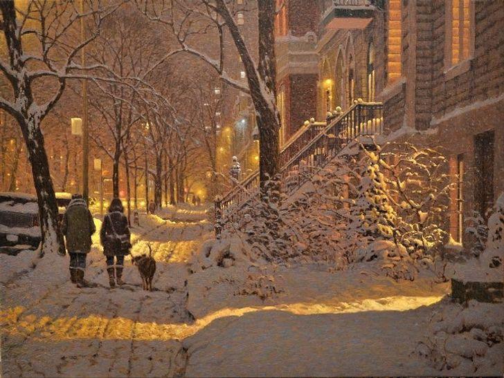 Канадский художник рисует картины, которые согреют вас лучше горячего какао ипледа