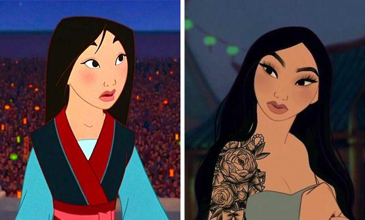 Как бы выглядели принцессы Disney, если бы родились в наше время