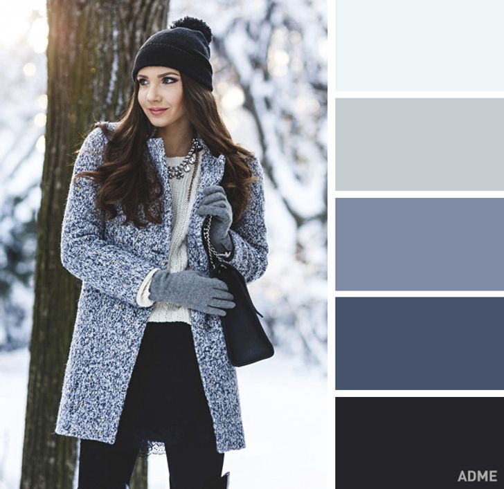 15идеальных цветовых сочетаний водежде для зимы