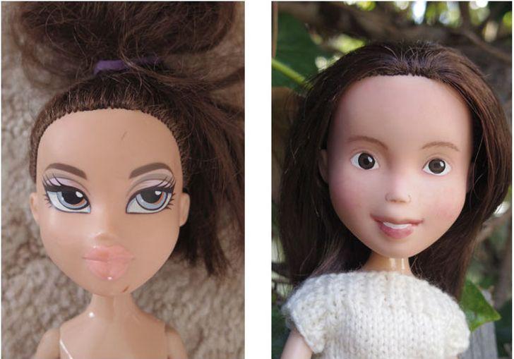 Художница смыла макияж скукол