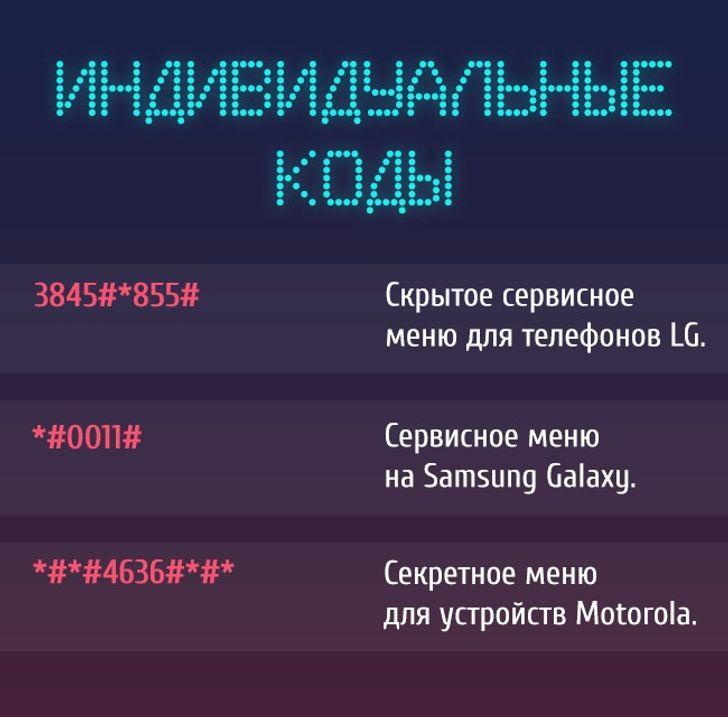 Эти секретные коды дадут доступ кскрытым функциям телефона