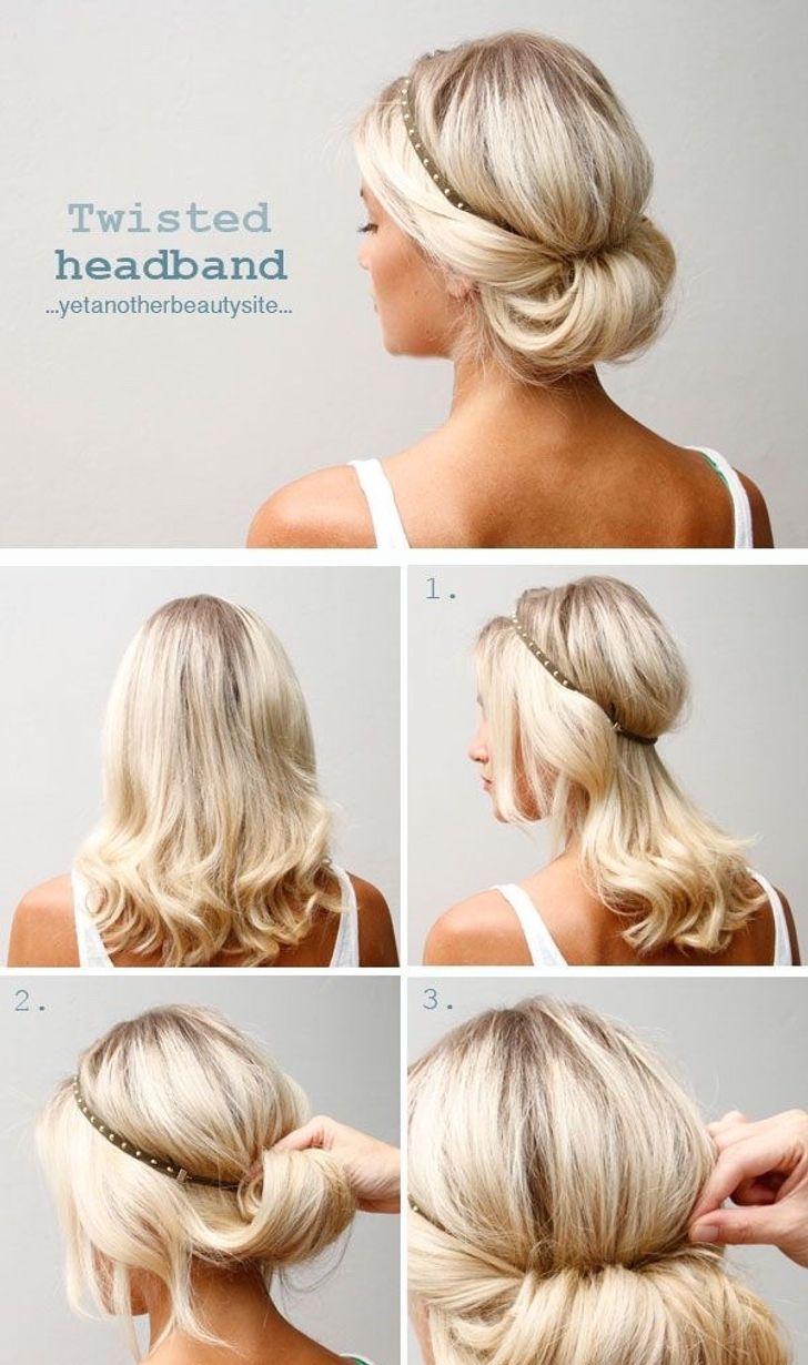 12идей, как уложить волосы средней длины