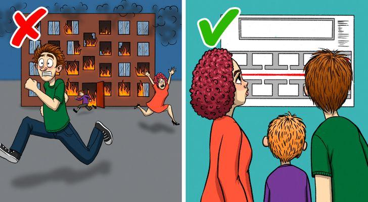 14 ошибок, которые могут дорого обойтись во время пожара