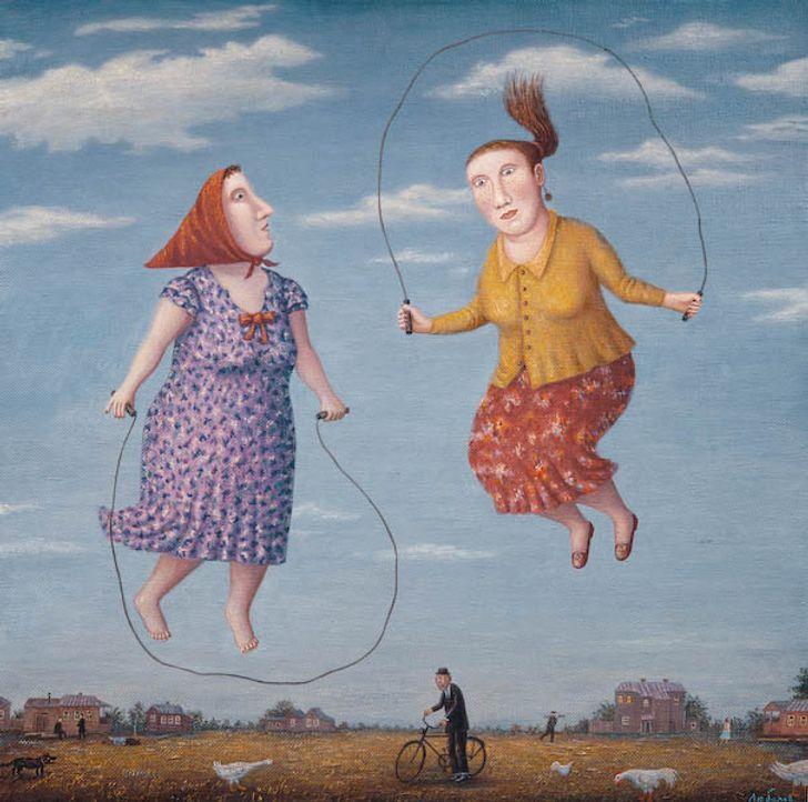 20+картин, автор которых будто подсматривает зажизнью простых людей через замочную скважину