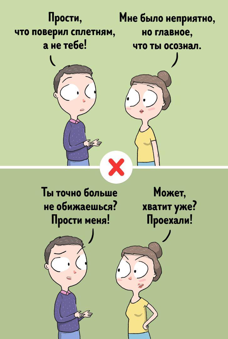 6примеров того, как нестоит извиняться, если вынехотите испортить отношения