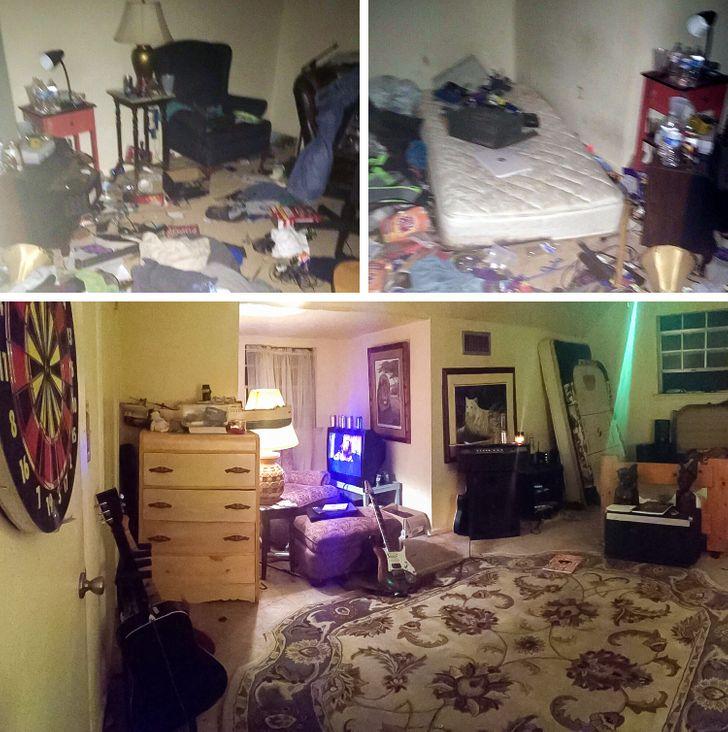 Пользователи сети показали, как их комнаты выглядели до и после борьбы с депрессией