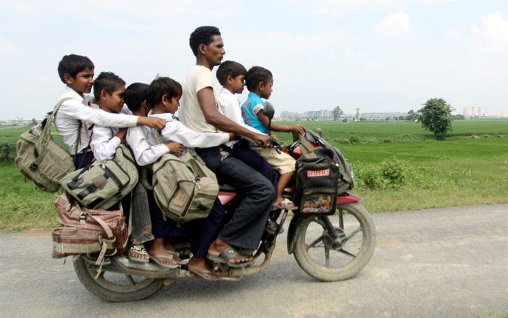 14 рискованных и пугающих дорог, по которым добираются в школу дети со всего мира