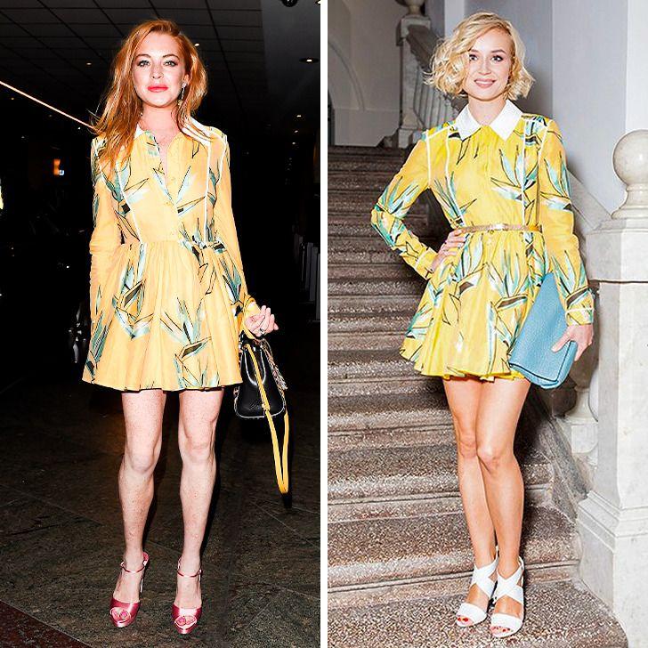 14 раз, когда наши и зарубежные знаменитости надели одинаковые платья