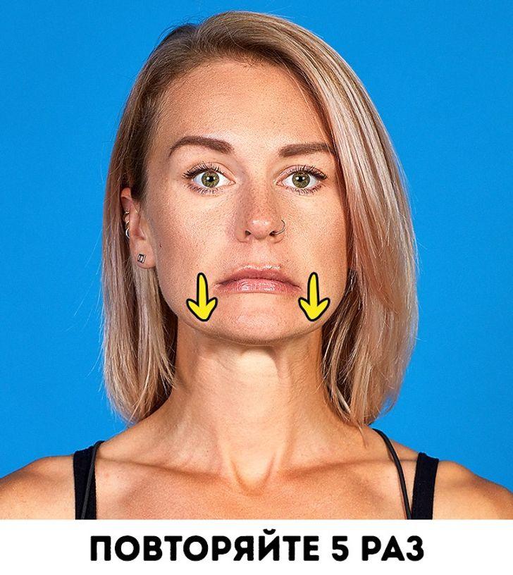 8действенных упражнений для подтяжки овала лица