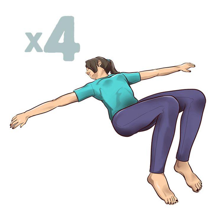 1-минутные упражнения нарастяжку, которые спасут вас отболи вспине