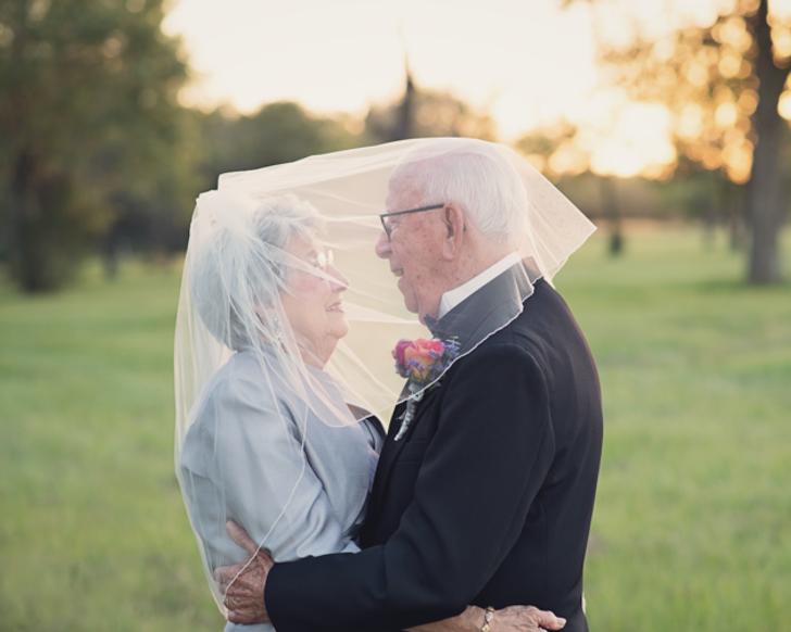 Эта пара ждала 70лет, чтобы сделать свадебную фотосессию