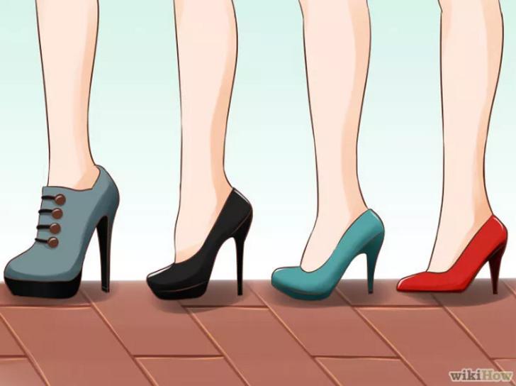 правильная походка на каблуках