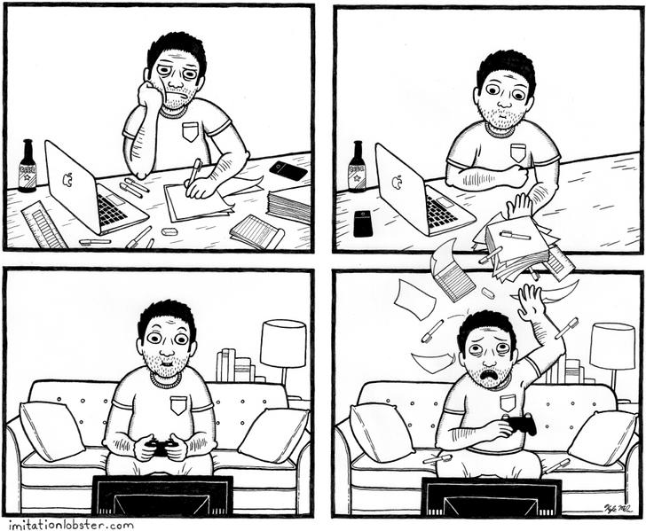 Художник рисует комиксы для тех, кто привык смотреть намир немного под другим углом